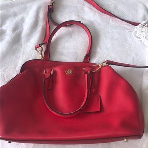 Red / coral Tory Burch bag